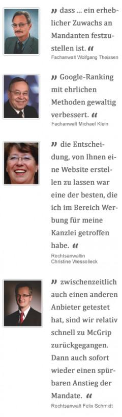 kostenlose Homepageanalyse von Anwaltsmarketing . net - aussagen