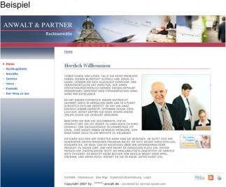 Kanzleiwebsite Beispiel